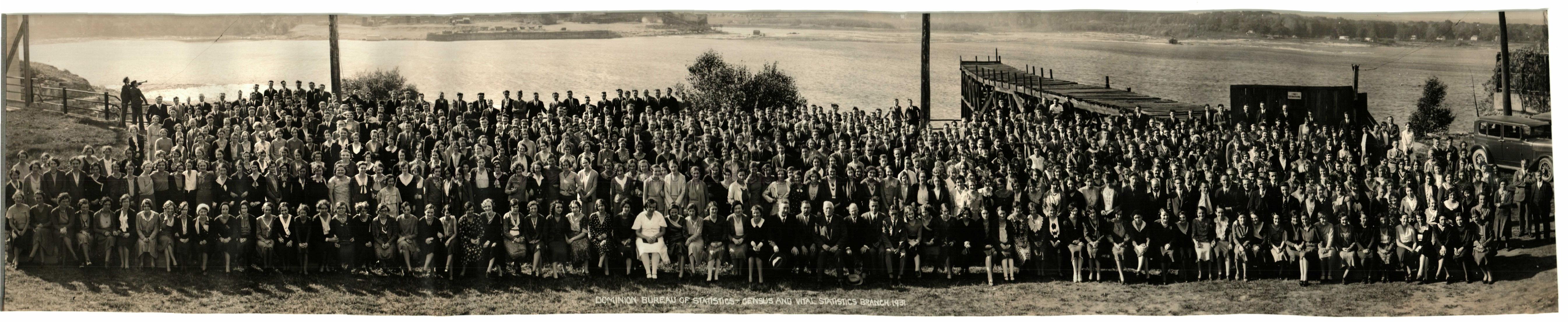 1931 Les employés de la branche du recensement et des statistiques de l'état civil