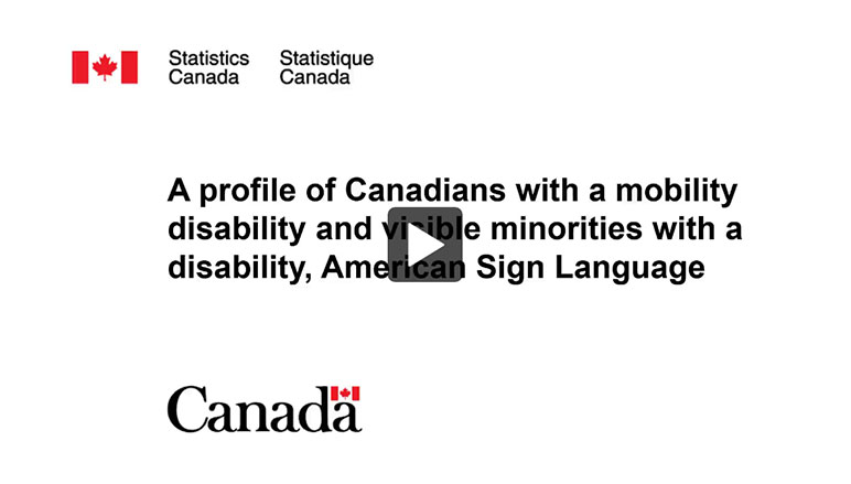 Impact of COVID-19 on Canadians living with long-term conditions and disabilities, American Sign Language - thumb