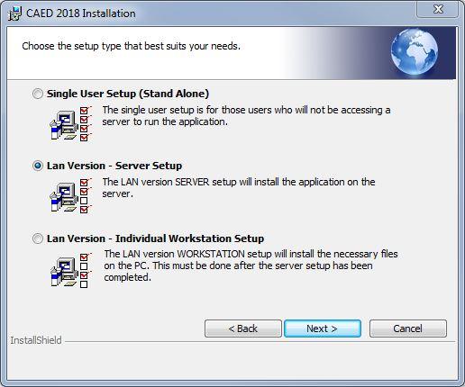 Select Installation Type LAN.