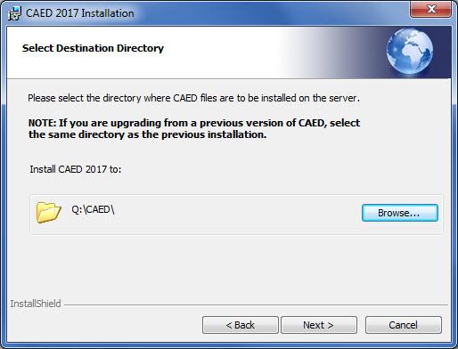 Select Destination Directory Hit Next.