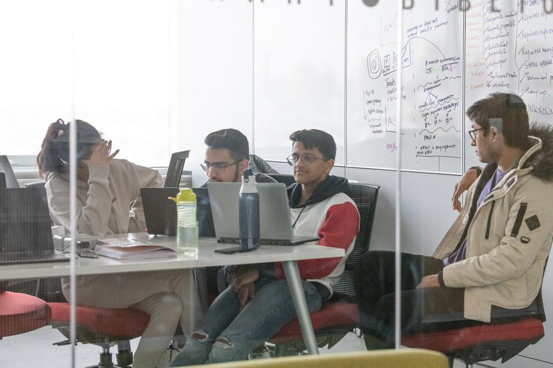Teams brainstorming