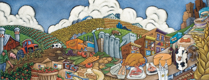 Painting for the cover of Canadian Agriculture at a Glance.