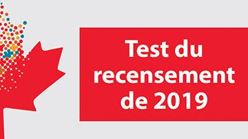 Test du recensement de 2019
