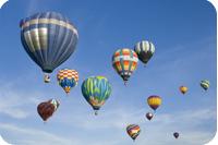 Hot air balloons | Ballons à air chaud