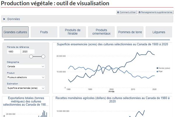 Production végétale : outil de visualisation