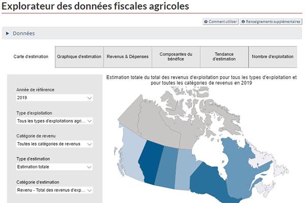 Explorateur des données fiscales agricoles