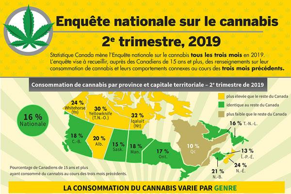 Enquête nationale sur le cannabis - Infographie