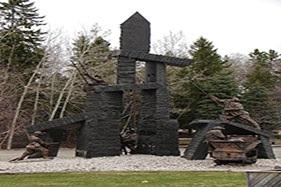The Miners' Memorial in Kirkland Lake, Ontario, heart of The Mile of Gold.