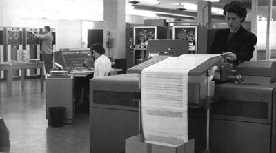 Le IBM 705, le premier ordinateur utilisé par StatCan à l'interne