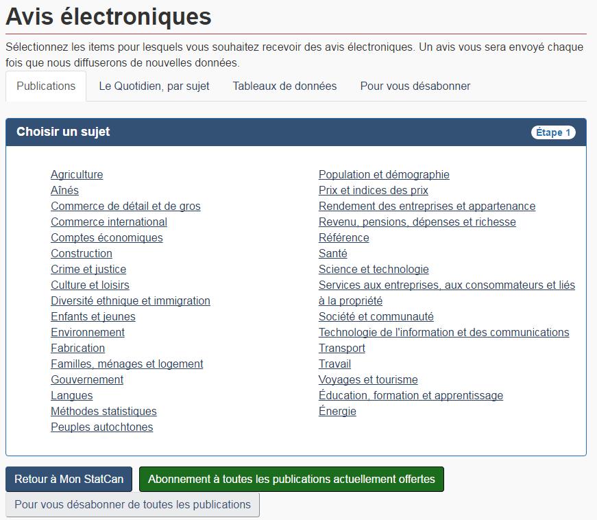 Avis électroniques