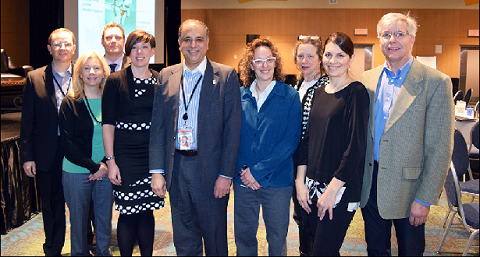 Chief Statistician Anil Arora with the organizing committee of the Middle Managers' Conference held in February in Gatineau, Québec.