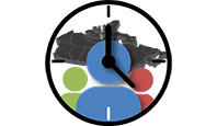 Horloge démographique - logo