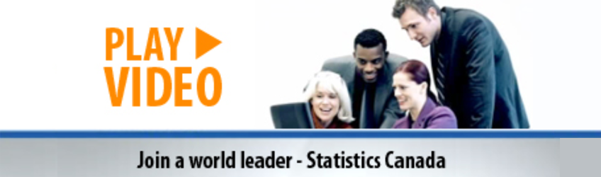 Join a world leader - Statistics Canada — Play video