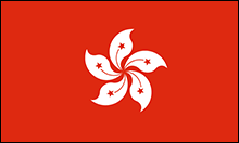 Flag on Hong Kong