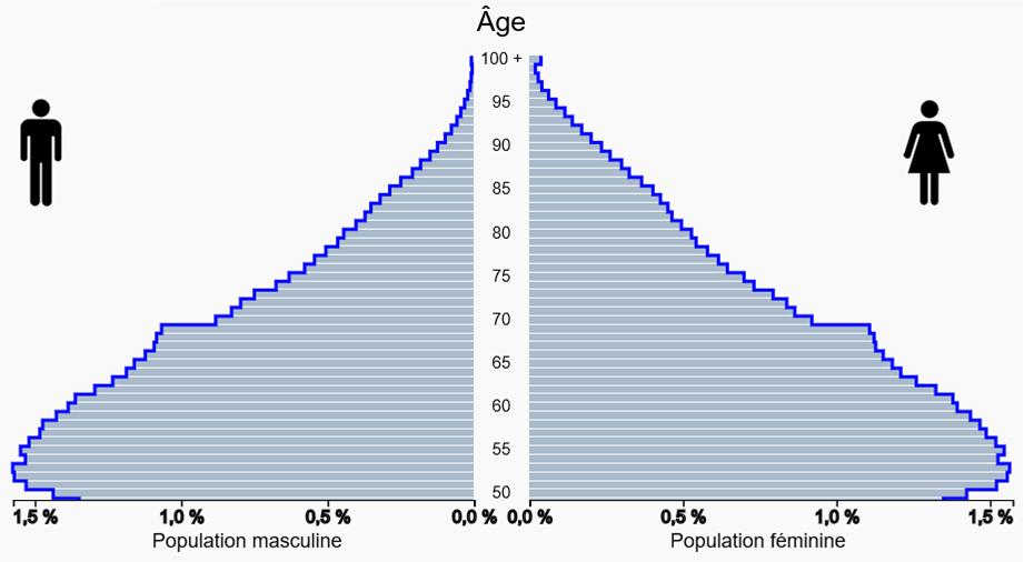 Pyramide de comparaison des âges