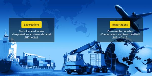 L'application Web sur le commerce international de marchandises du Canada