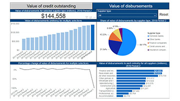 Suppliers of Business Financing Visualization Tool
