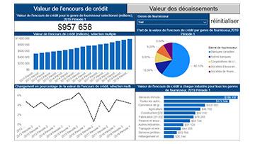 Outil de visualisation des fournisseurs de services de financement aux entreprises