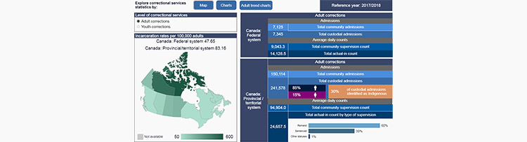 Correctional services statistics: Interactive dashboard