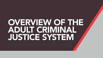 Overview of the Adult Criminal Justice System