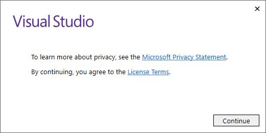 Screenshot of Installing Visual Studio 2017: Step 2