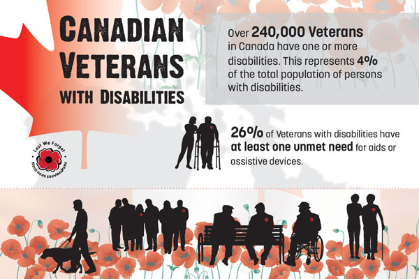 Canadian veterans with disabilities, 2017