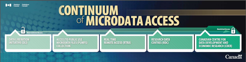 Continuum of microdata access