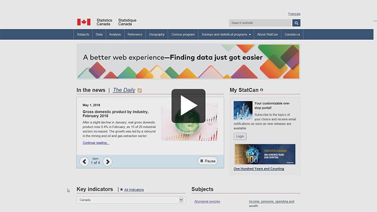 Screen capture: NDM homepage - video thumbnail