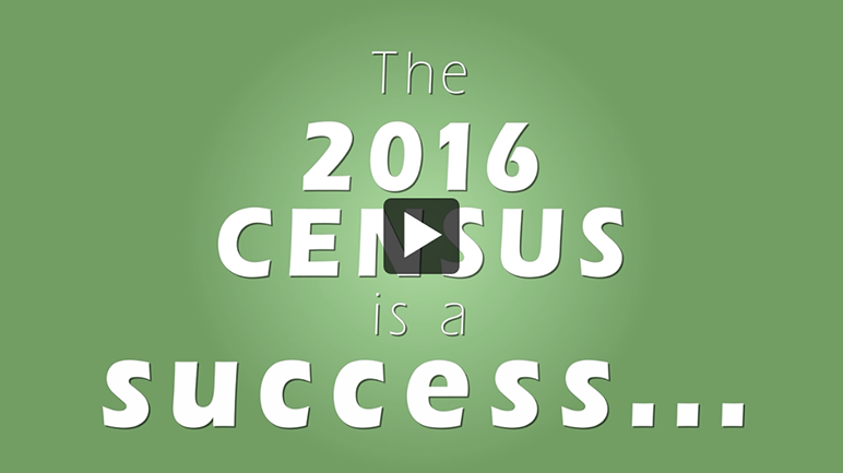 The 2016 Census is a success... Video poster
