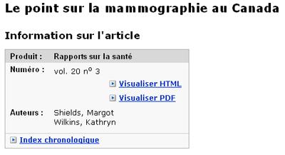 Copie d'écran : Résultats de la recherche pour l'exemple margot shields, kathryn wilkinson. Shields, Margot et Wilkins, Kathryn Gross sont les auteures indiquées dans l'enregistrement du catalogue.